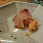 96178081 - カンパチ塩・青蜜柑皮たたき 自家製ポン酢で