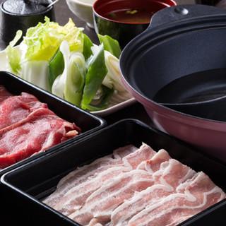 しゃぶしゃぶとお寿司の食べ飲み放題付コースは3,000円~◎