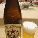鮨処もり山 - ビール中瓶