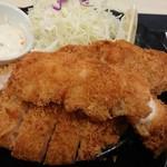 松のや - ロースかつ&ささみかつ(2枚)定食』(税込み830円