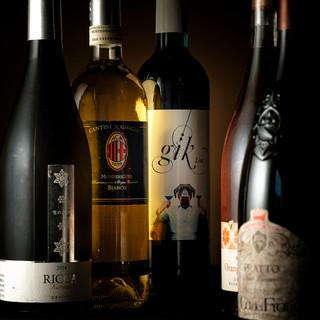 お料理を引き立てる地元日高ブランドのトンネル熟成ワイン