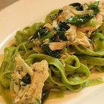 イタリア食堂 MARIA - ホーレン草のタリアテッレ戻りカツオのツナと野菜のオイルソース