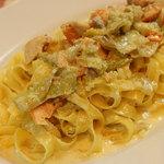 イタリア食堂 MARIA - タリアテッレサーモンくたくた野菜のクリームソース