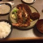 味のとんかつ 丸一 - 盛り合せ定食(竹)