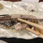 和楽庵 はなれ - さんま塩焼きとお刺身定食1000円。さんまは新鮮なせいか身離れがよく、とても食べやすく味も良かったです(╹◡╹)