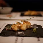 kiwa - 料理写真:白えびと銀杏のさつま揚げ