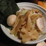 つけ麺 松ふじ - 大量の野菜と海苔と味玉