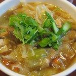 XI'AN - あっさりスープの野菜刀削麺 \700