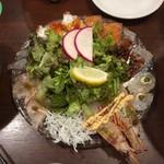 魚とワイン はなたれ The Fish and Oysters - 名物!魚魂カルパッチョ(2人前)