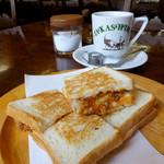 たかしまコーヒー店 - ミラノ風カツサンド600円&レギュラーコーヒー450円