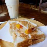 たかしまコーヒー店 - フルーツサンド450円&ミルクセーキ500円