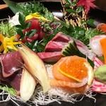完全個室と本格和食 桜花 - お刺身5点盛り