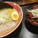 ラーメン・豚丼専門 拾丁目食堂 - 旨塩ラーメン750円と豚丼セット390円