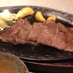 牛楽 - 亀岡牛鉄板焼きランチ(並)1.562円
