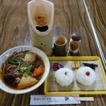 96220191 - オニギリ定食(温かい蕎麦)、850円。。。だったけかなw