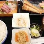 井魚家いむら - シマホッケ&ブリ刺