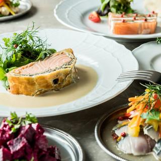クラシックなフランス料理を楽しむ