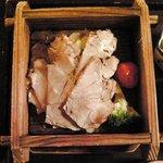 9623857 - せいろ蒸し御膳 築土 1000円 の岩中豚と野菜の特製せいろ蒸し