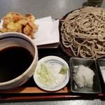 うさぎ庵 - かき揚げセイロ980円+麺大盛200円!
