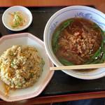 台湾料理 雅味 - 料理写真:台湾ラーメン+炒飯