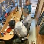 うなぎ花菱 - 1階カウンター席