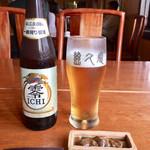 Jikyuan - 料理写真:「キリン零ICHI (ノンアルコールビール)」400円、「超珍味・岩魚のうるか」700円