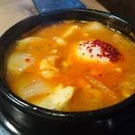 炭火焼肉 韓国苑 - 海鮮スンドゥブ(S)辛さ普通
