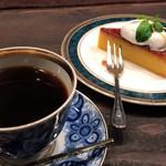 茶亭 羽當 - トップフォト 羽當オリジナルブレンドとかぼちゃプリン