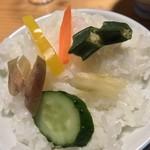 松屋旅館 - 松屋旅館(愛媛県西予市宇和町卯之町)漬物御膳付き御昼食