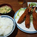 きさらぎ亭 - エビクリームフライ定食880円