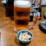 ぶた家 - メガ・生ビール