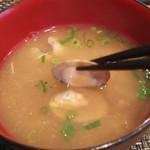 玄海鮨 - お碗は貝汁