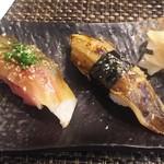玄海鮨 - 追加  サバとアナゴ