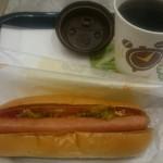 バーガーキング - ホットドッグにホットコーヒー