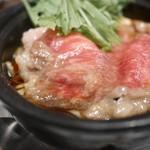 ステーキなぐら - 仙台牛のすき煮ランチ