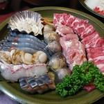 鯛よし百番 - 寄せ鍋セットの蛋白質系