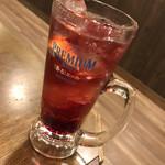 旨唐揚げと居酒メシ ミライザカ - ワインサワー赤玉パンチ