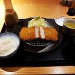 かつ雅 - ジャンボヒレカツ定食