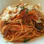 エノテカ・リオーネ - きのことソテーオニオンのトマトスパゲティ