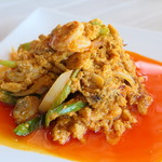 ドゥワンチャン - シーフードと卵のカレー炒め
