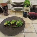 ビストロ リコスタンド - 和牛タンの香草パン粉焼き/シー・リッジ カベルネ・ソーヴィニヨン カリフォルニア