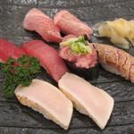 丸長寿司 - 鮪づくし:3200円