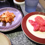 96284771 - キムチと赤身肉です☆