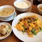 慶和楼 - 叉焼炒蛋(チャーシューと卵炒め)