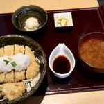 とんかつ葉月 - おろしかつ丼定食(おろし多め&ご飯大盛り)