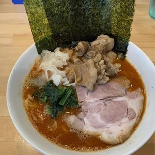 横浜ラーメン 北村家 - 料理写真:【2018.10.24】ファイヤー並780+豚ハラミ200円