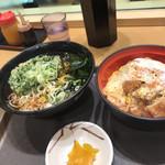 名代 富士そば - カツ丼セット(かけそば)春菊天プラス