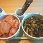博多もつ鍋 やまや - ランチは、やまやの辛子明太子・辛子高菜・ご飯が食べ放題というのはポイント高し!