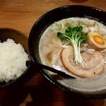 吉み乃製麺所 - 濃厚ラーメン+白ごはん