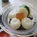 みのわ - ・「冷白玉クリームぜんざい(\950)」のアップ。